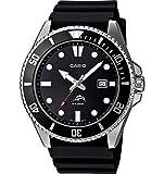 Watches : Casio Men's Black Analog Anti Reverse Bezel Watch