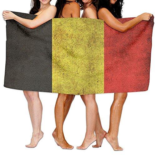 頑張る重さ隔離ビーチバスタオル バスタオル ベルギーの旗 ビーチタオル 海水浴 旅行用タオル 多用途 おしゃれ White