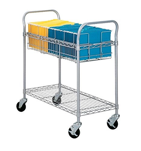 Safco 36''W Wire Mail Cart Dimensions: 39''W X 18 3/4''D X 38 1/2''H For Library, Media Center, Mail Room, Server Room, Ware House, Assembly Areas by Safco