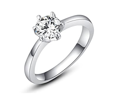 8eaaf8ca67 Silver Shoppee Austrian Crystal Sterling Silver Ring for Girls and Women