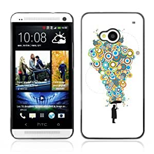 YOYOSHOP [Cool Bubble Thoughts Colorful ] HTC One M7 Case