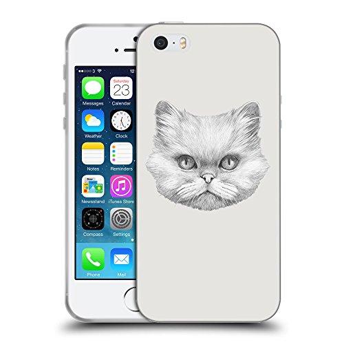 GoGoMobile Coque de Protection TPU Silicone Case pour // Q05330631 chat persan Platine // Apple iPhone 5 5S 5G SE