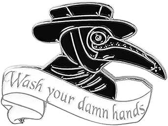 QIHOO Plague Doctor Enamel Pin Set,Beak Face Steampunk Brooches Cartoon Badge for Bag Lapel Pin Buckle Jewelry Gift