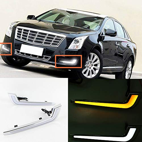 For Cadillac XTS Daytime Running Light LED DRL Driving Lamp by MotorFansClub 2013-2015