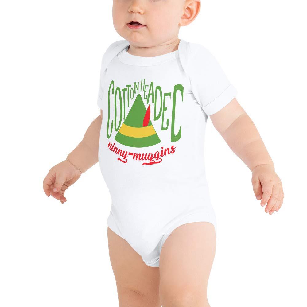 payatek Cotton Headed Ninny Muggins Baby Bodysuits Baby Shirt Buddy The Elf Christmas