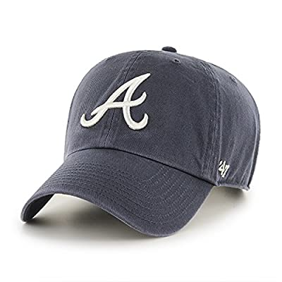 MLB Atlanta Braves '47 Brand Navy Basic Logo Clean Up Vintage Adjustable Hat