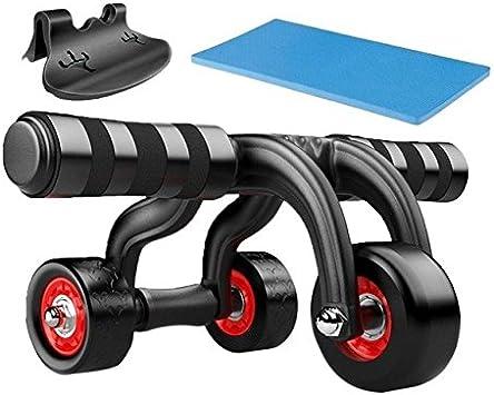 Nuevo 3 Ruedas Rodillo abdominales Fitness Core ejercicio seis ...