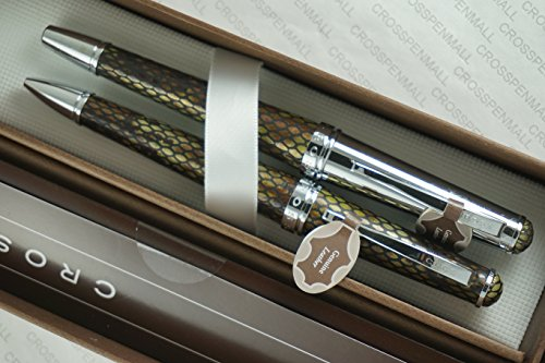 Cross Executive Companion Genuine Textures and Diamondback Italian Leather Selectip Rollerball Pen and Ballpoint Pen . Imagine a Set of Genuine Leather Pens From Cross Stable . (Leather Ball Wrap Roller)