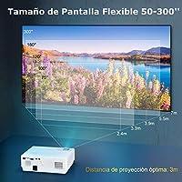Proyector, WiMiUS 6500 Lúmenes Proyector Full HD 1920x1080P ...