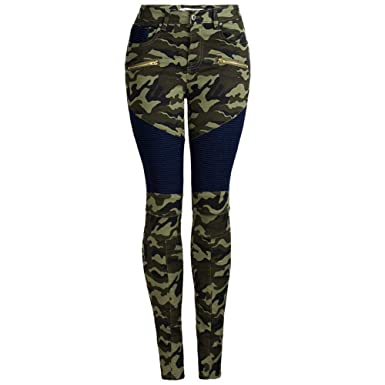 abf9b0ad299 Image Unavailable. Image not available for. Color  LIYT Womens Plus Size  Stretch Distressed Camo Camouflage Skinny Jeans Pants