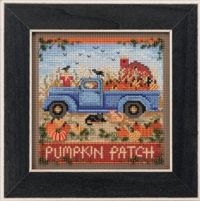 Beaded Pumpkin - Old Time Harvest Beaded Counted Cross Stitch Kit Mill Hill 2017 Buttons Beads Autumn MH141726