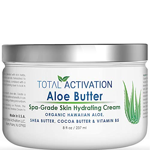 Hawaiian Aloe Vera Face & Body Moisturizer & Night Cream for Sunburn Relief Compare With Aloe Vera Gel 100 Percent Pure, Face Lotion, Eczema Cream, Lotion For Dry Skin & Wrinkle Cream For Women 8 oz (Best Natural Face Moisturizer For Oily Skin)