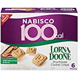 Nabisco 100 Cal Lorna Doone Shortbread Cookie Crisps, 6 Count Box, 4.44 Ounce