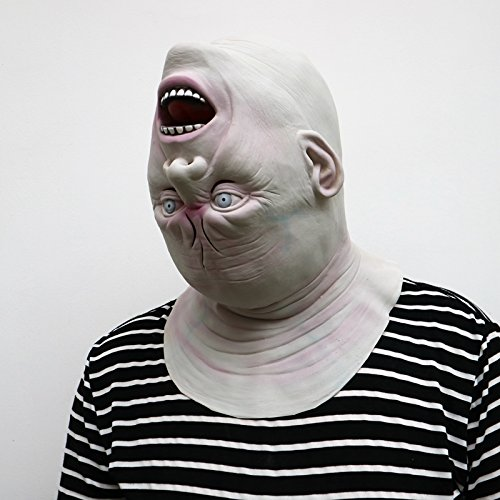 Costume adulto Latex Maschera mostro a testa in gi/ù Perfetta per carnevale e Halloween Unisex Taglia unica