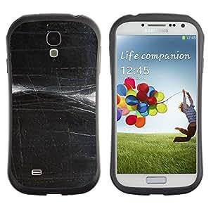 "Hypernova Slim Fit Dual Barniz Protector Caso Case Funda Para SAMSUNG Galaxy S4 IV / i9500 / i9515 / i9505G / SGH-i337 [Rayado Negro blanco del arte""]"