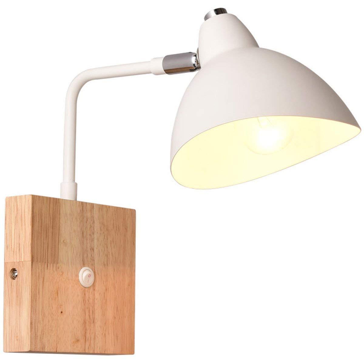 TJTJ 現代のシンプルな壁ランプヨーロッパの純木の壁ランプは壁ランプボタンスイッチE27光源を置きます B07S48BZKM