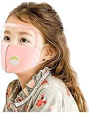 Auifor Adecuado para niños, lavable y reutilizable, a prueba de polvo al aire libre y transparente antivaho con válvula, 3 piezas por paquete
