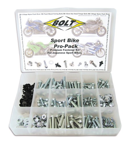 (Bolt Motorcycle Hardware (2006-SBPP) Sport Bike Pro Bolt Pack)