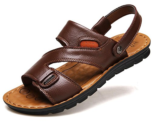 Vocaboli Open Toe Casual Comfort In Pelle Scarpe Sandali Open Toe Scarpe Per Uomo Marrone