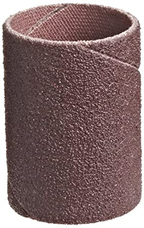 """3M Cloth Band 341D, 1/4"""" Diameter x 1/2"""" Width, 80 Grit, Brown (Pack of 100)"""