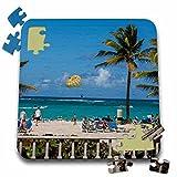 Danita Delimont - Parasailing - Parasailing, Riu Palace, Dominican Republic - CA14 LEN0229 - Lisa S. Engelbrecht - 10x10 Inch Puzzle (pzl_134784_2) offers