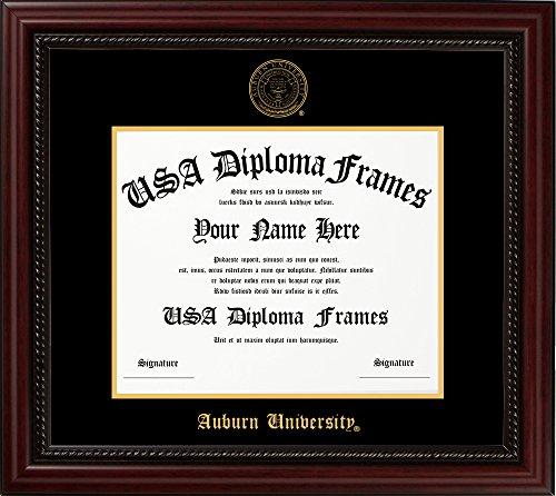 Auburn University Diploma Frame - Executive Cherry - Diploma Auburn Frame