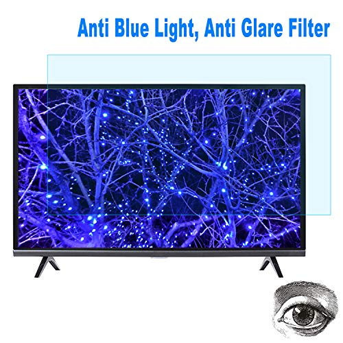 "(32 Inch TV Anti Blue Light Screen Protector, Eye Protection Blue Light Filter Blocks Reduce Eye Fatigue and Eye Strain for 32"" LCD, LED, OLED & QLED 4K HDTV)"