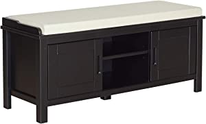 Amazon Brand – Ravenna Home Classic Solid Pine Storage Bench, 45