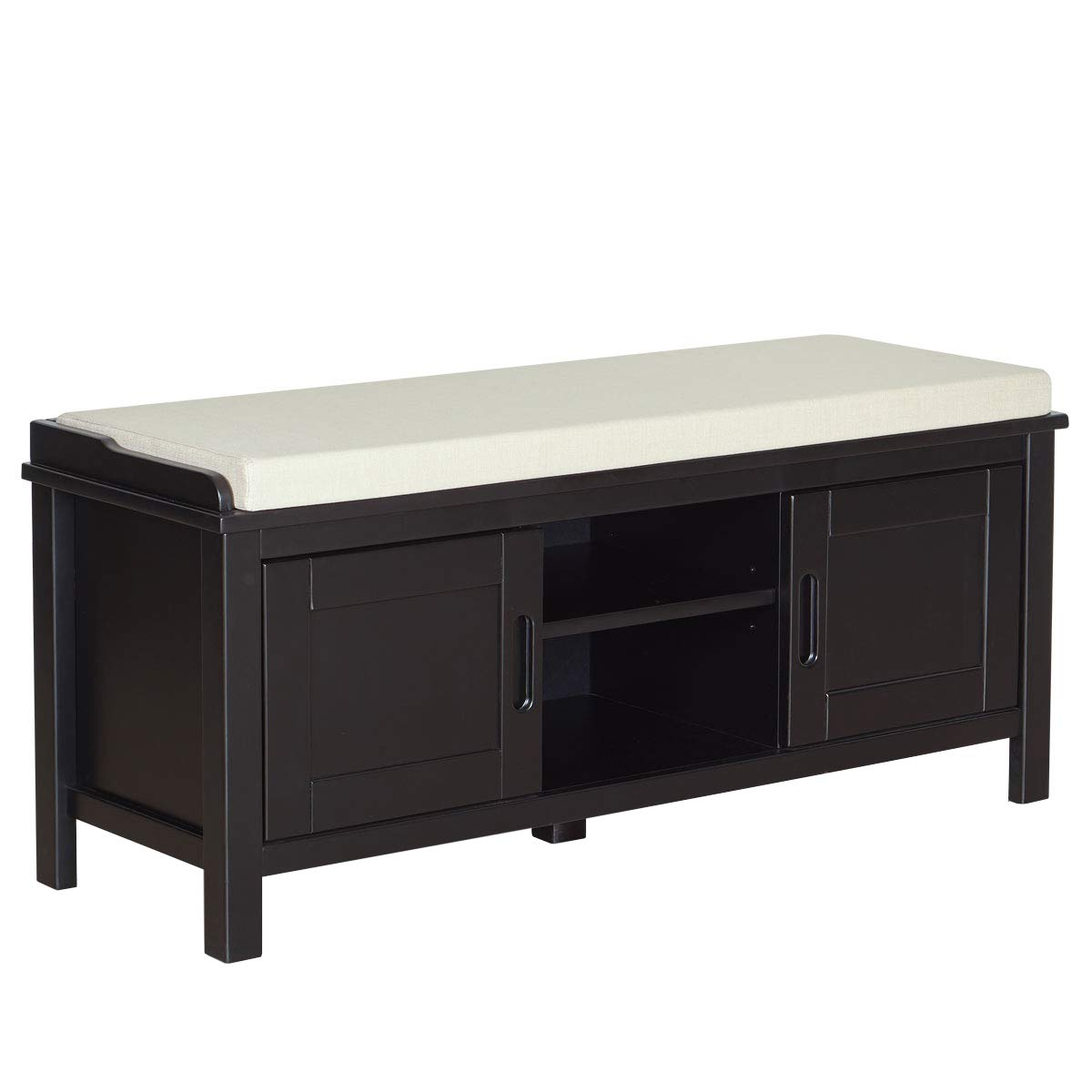 Ravenna Home Classic Solid Pine Storage Bench, 45''W, Black Finish by Ravenna Home