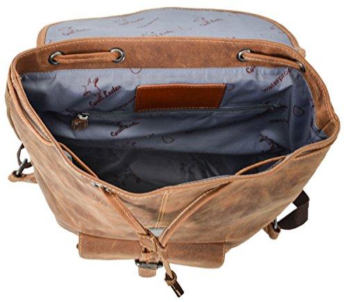 Rucksack Gusti Leder studio Nolan Lederrucksack Unirucksack Büffelleder Groß Vintage Hellbraun 2M23-20-5wp