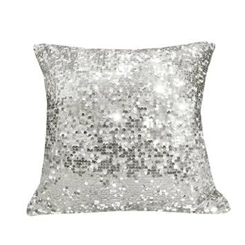 Sparkling Sequins Decorative Pillow Cushion Cover Pillow Case Home Classy Silver Sequin Decorative Pillow