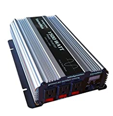 The WindyNation VertaMax 1500W Pure Sine Wave Power Inverter provides household power on the go! It converts battery power to 115 V AC household power, allowing you to power up office equipment and household appliances from your vehicle or an...