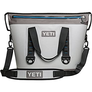 YETI Hopper Two 30 Cooler (Fog Gray / Tahoe Blue)