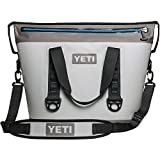 YETI Hopper Two 24 Cans Portable Cooler, Fog Gray / Tahoe Blue