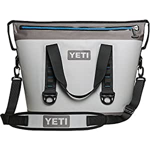 YETI Hopper Two 30 Portable Cooler, Fog Gray/Tahoe Blue