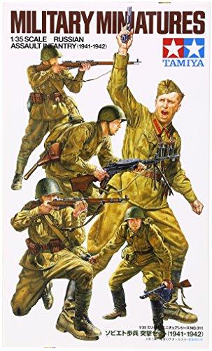 タミヤ 1/35 ミリタリーミニチュアシリーズ No.311 ソビエト陸軍 歩兵突撃セット 1941-1942 プラモデル 35311
