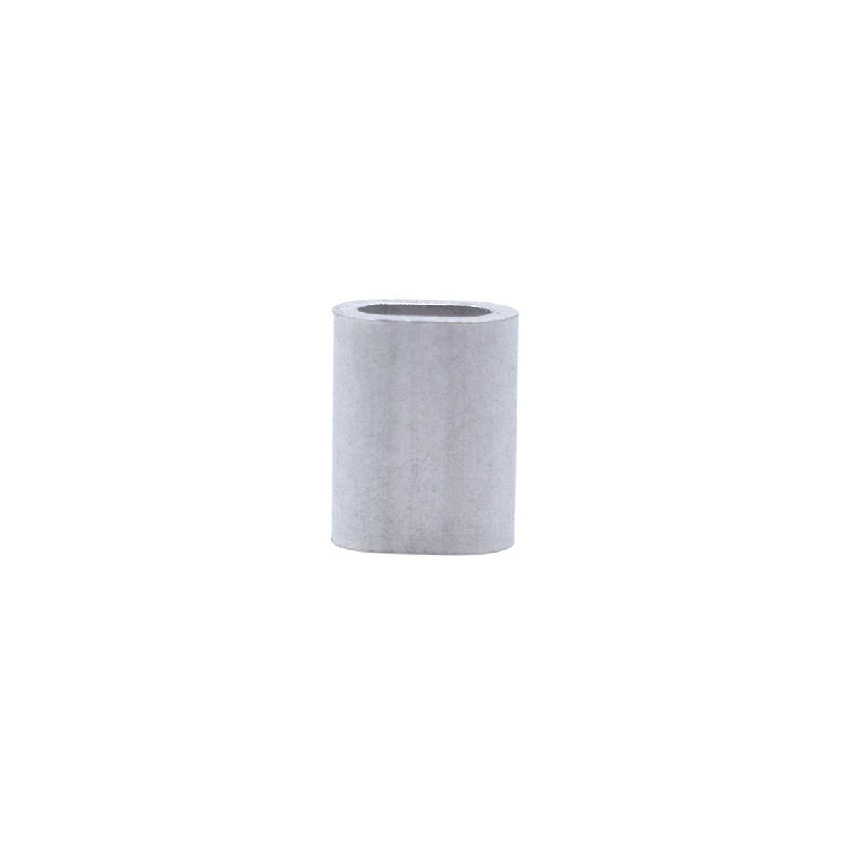 "Aluminum Sleeves Clip Single Oval Hole Cable Crimps for 2.5mm (3/32"") Wire Rope Cable 100 Pack KEEJEA 3-2.5"