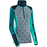 Kari Traa Women's Rett Half-Zip Long Sleeve Baselayer (X-Large, Light Turquoise)