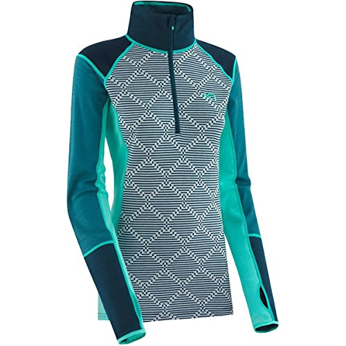 Kari Traa Rett Half Zip Womens Long Underwear Top - Medium/Light Turquoise by Kari Traa