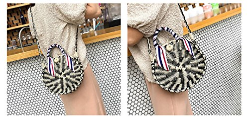 Beach Mimbre Handmade Manfdgabngs In Shown Circle N Scarves Women Shoulder Travel Is Ladies Woven As Bolso Straw Bag Round Summer RZdFZw8q