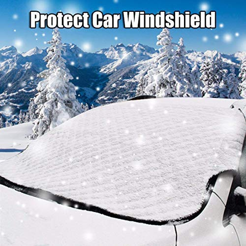 Windshield Snow Ice Cover,Lord Eagle Windshield Cover for Ice and Snow, Magnetic Windproof Winter Windshield Cover Fits Most Cars, Trucks and SUVs(58 x 46)