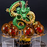 GreenSun(TM) dragon ball z toy action figures 2015 New Dragonball figuras 1 figure dragon shenlong +7 crystal balls 4.3cm +1 shelf brinquedos