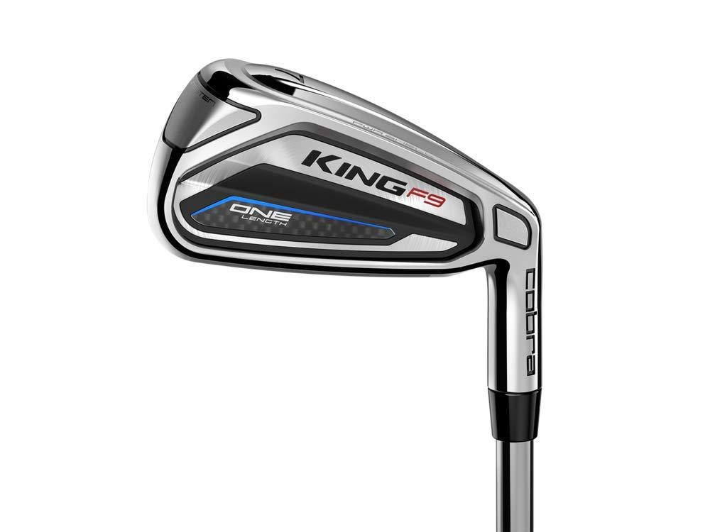 Cobra Golf 2019 F9 Speedback One Length Iron Set, Chrome Black Blue, Right Hand, Stiff, 5-GW, Steel