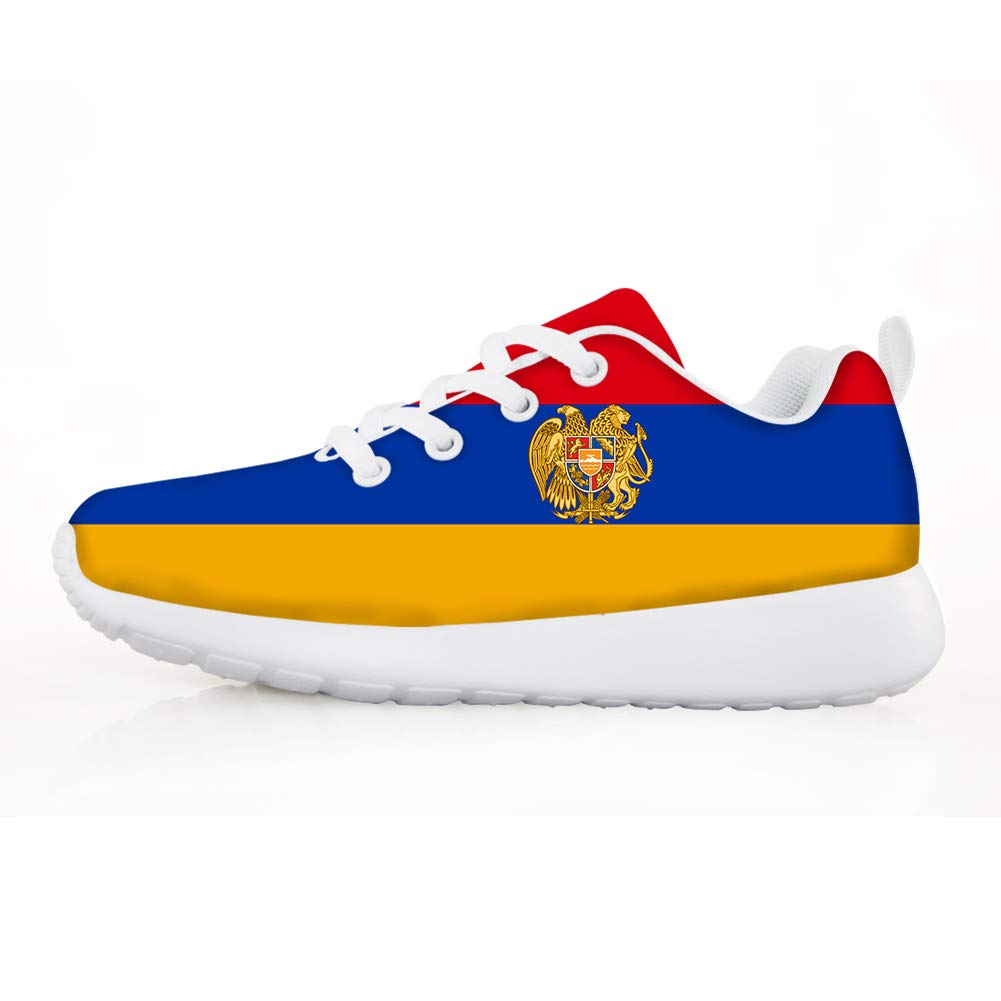 Boys Girls Casual Lace-up Sneakers Running Shoes Armenia Flag National Emblem