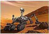 NASA Mars Curiosity Rover Spacecraft Poster 19 x 13in