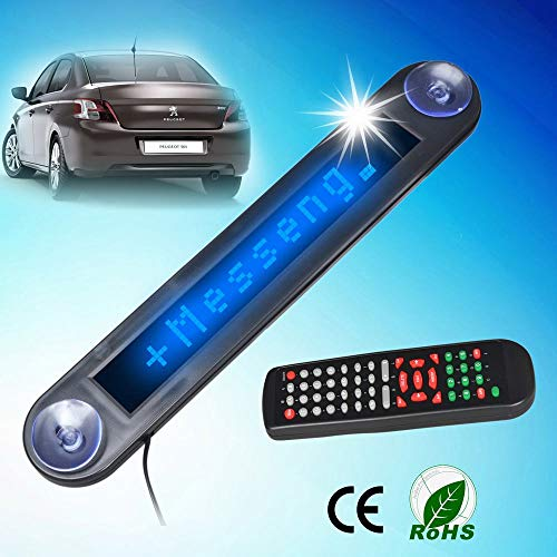 (Letouch 12V Car LED Programmable Message Sign Display Board with Remote)