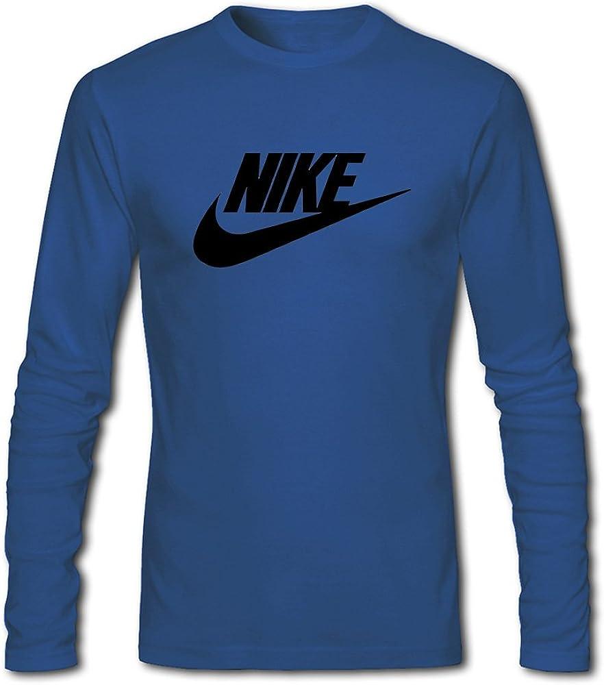 Nike Air Max Logo Classic para hombres impreso algodón de manga ...