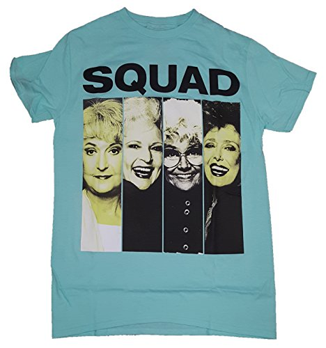 Fashion Golden Girls Squad Celadon Green Graphic TShirt, Large 4245