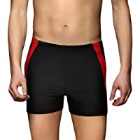 PHINIKISS Men Swimsuit Quick Dry Swimming Pants Chlorine Resistant Swimsuit Swimwear