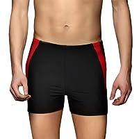 PHINIKISS Men Swimsuit Quick Dry Swimming Pants Chlorine Resistant Swimsuit Swimwear